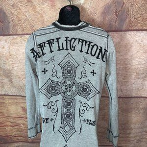 Affliction Shirt Reversible Long Sleeve Medium